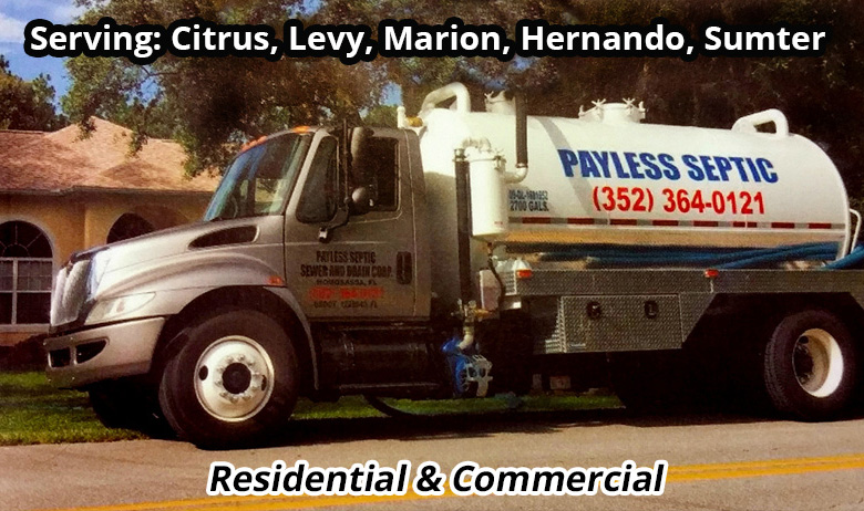 Septic Tanks Pumped and Cleaned, Drainfields Cleaned or Replaced, Sewer Maintenance Programs